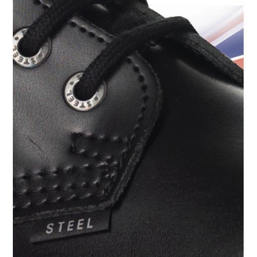 Topánky Steel 6-dierkové - čierne - Steel obuv 2e3e635175b