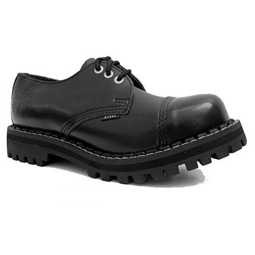 Topánky Steel 3-dierkové - čierne - Steel obuv 6ac71ce6d0