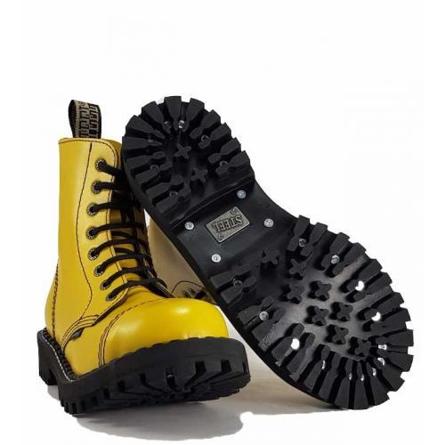 55746ff798053 Topánky Steel 8-dierkové - žlté - Móda vo väčších veľkostiach