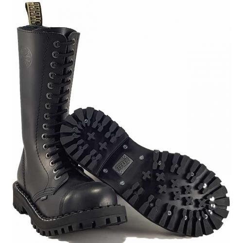 Topánky Steel 15-dierkové - čierne - Steel obuv 6624f49abc