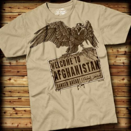 Triko 7.62 Design Welcome to Afghanistan - khaki