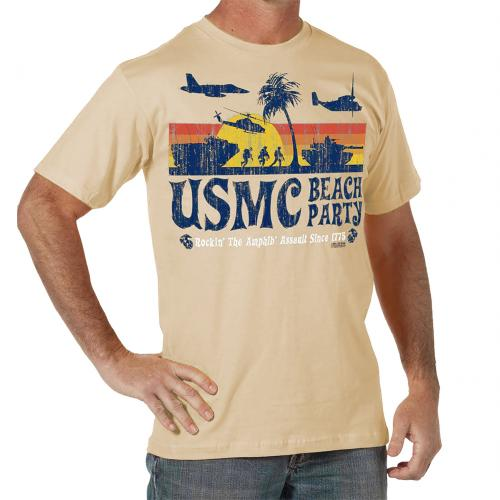 Triko 7.62 Design USMC Beach Party - khaki