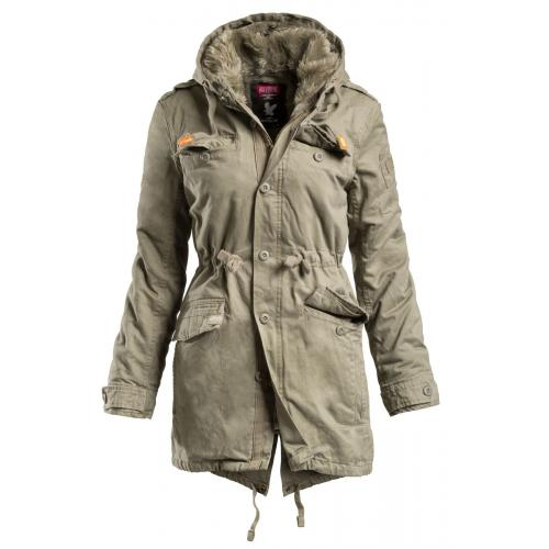 Bunda Surplus Raincheaster Parka Woman - olivová