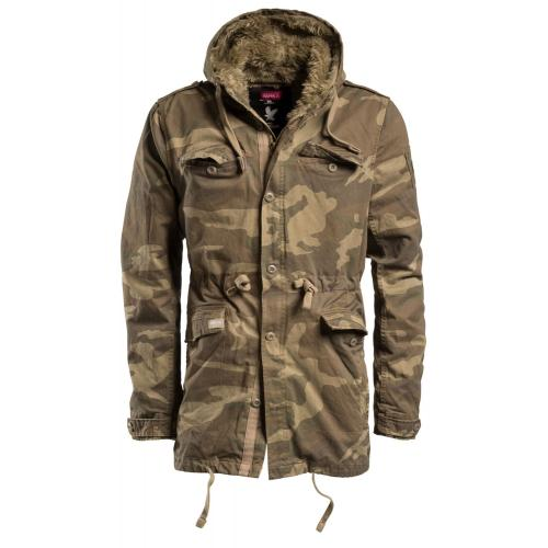 Bunda Surplus Raincheaster Parka - woodland