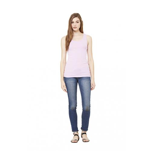 Top Bella Stretch Rib Tank - růžový