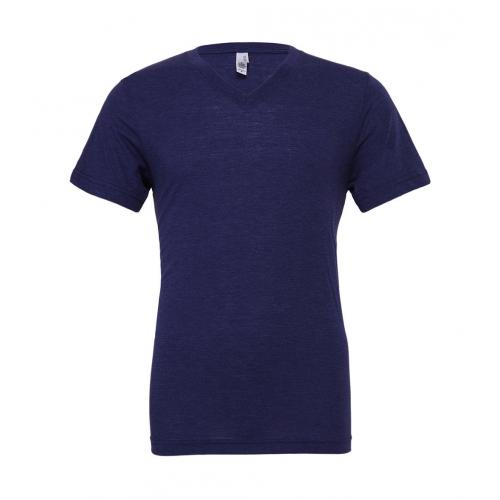 Tričko Bella Triblend V-Neck Men - navy