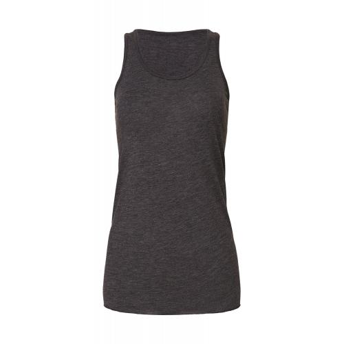 Top Bella Tank Top Flowy - tmavo šedý