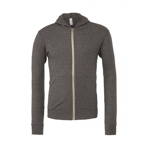 Mikina Bella Triblend Full-Zip Lightweight - šedá