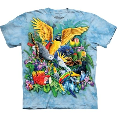 Tričko unisex The Mountain Birds of the Tropics - modré
