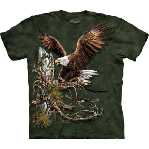 Tričko unisex The Mountain Find 12 Eagles - zelené