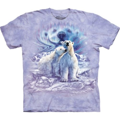Tričko unisex The Mountain Find 10 Polar Bear Pair - fialové