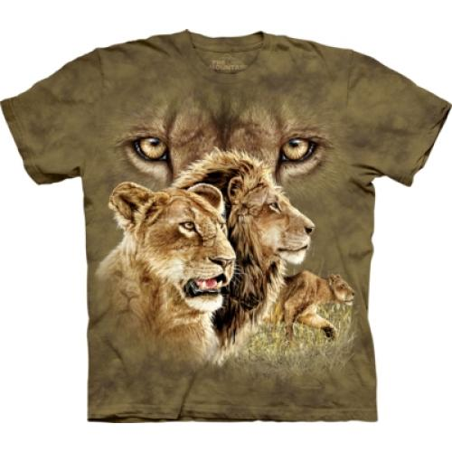 Tričko unisex The Mountain Find 10 Lions - zelené