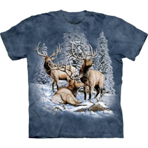 Tričko unisex The Mountain Find 8 Elk - modré