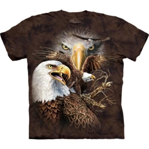 Tričko unisex The Mountain Find 14 Eagles - hnedé