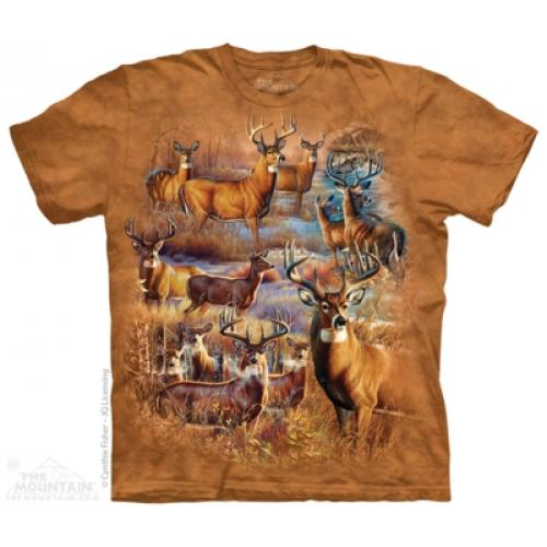 Tričko unisex The Mountain Hunter's Paradise Collage - hnedé