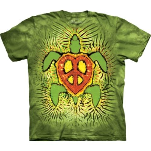 Tričko unisex The Mountain Rasta Peace Turtle - zelené