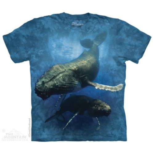 Tričko unisex The Mountain Blue Whale - modré