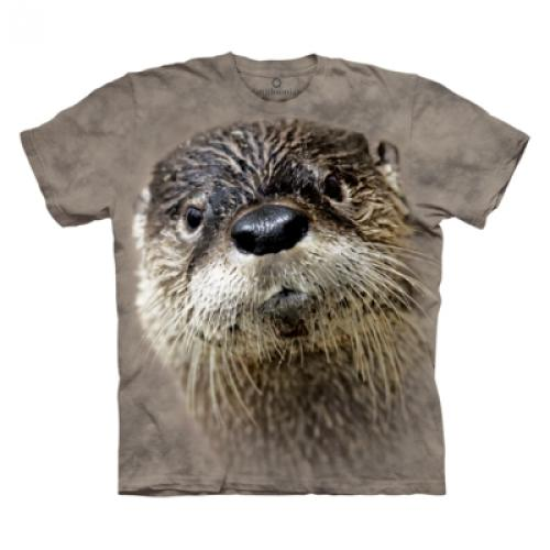 Tričko unisex The Mountain North American River Otter - šedé