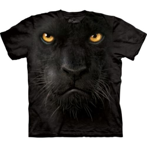 Tričko unisex The Mountain Black Panther Face - černé