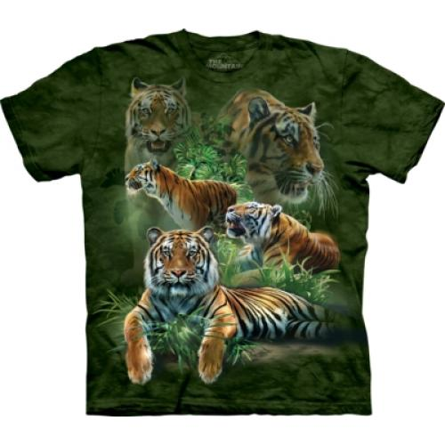 Tričko unisex The Mountain Jungle Tigers - zelené