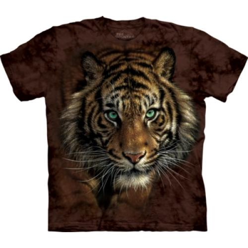 Tričko unisex The Mountain Tiger Prowl - hnedé