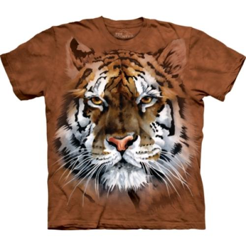 Tričko unisex The Mountain Fierce Tiger - hnedé