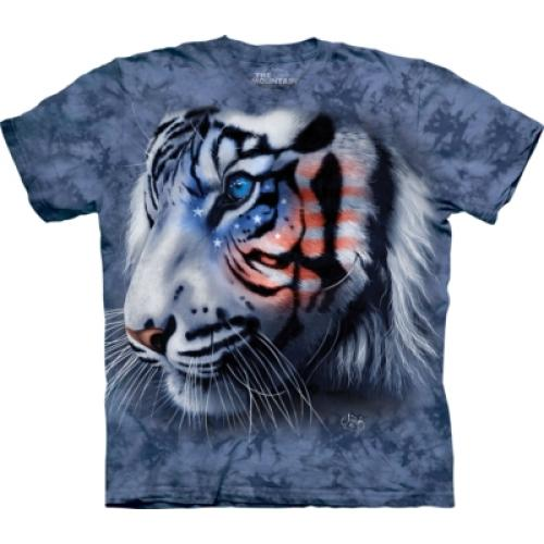 Tričko unisex The Mountain Stars & Stripes Tiger - modré
