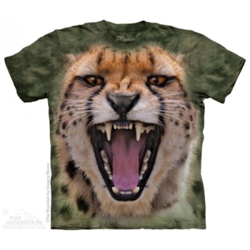 Tričko unisex The Mountain Wicked Nasty Cheetah - zelené