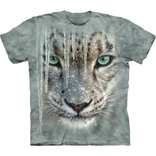Tričko unisex The Mountain Icicle Snow Leopard - šedé