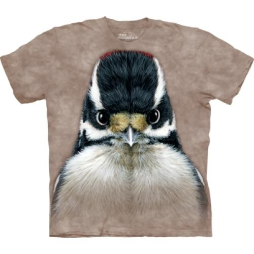 Tričko unisex The Mountain Downy Woodpecker - hnedé