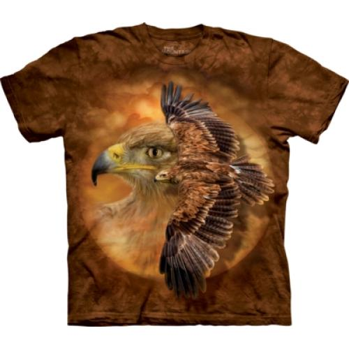Tričko unisex The Mountain Tawny Eagle Spirit - hnedé