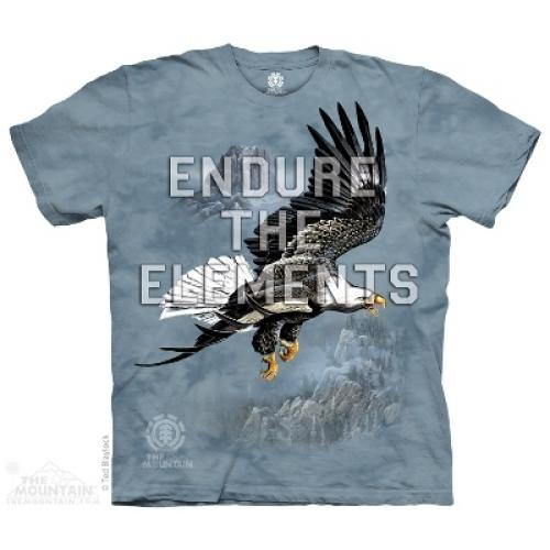 Tričko unisex The Mountain Endure The Elements - modré
