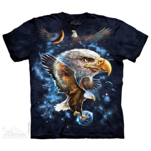 Tričko unisex The Mountain Cosmic Eagle - modré