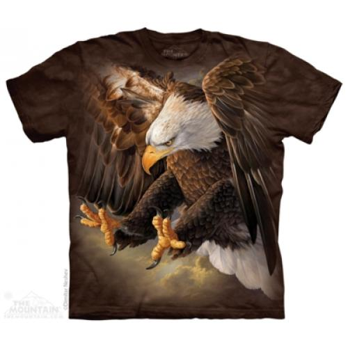 Tričko unisex The Mountain Freedom Eagle - hnědé