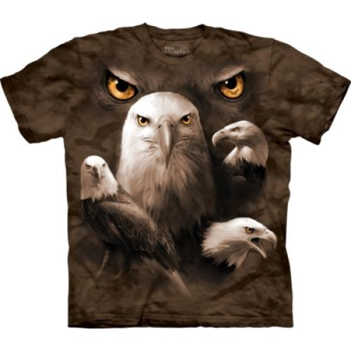 Tričko unisex The Mountain Eagle Moon Eyes - hnedé