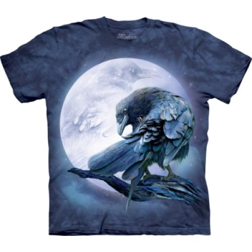Tričko unisex The Mountain Raven Moon - modré