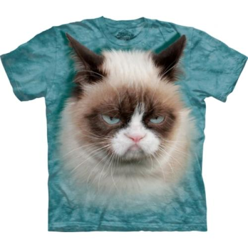 Tričko unisex The Mountain Grumpy Cat - modré