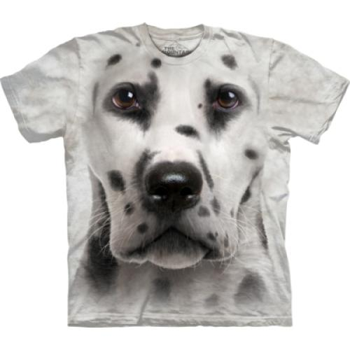 Tričko unisex The Mountain Dalmatian Face - šedé