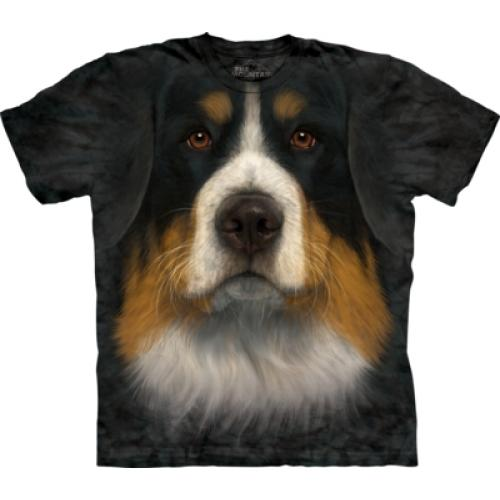 Tričko unisex The Mountain Bernese Mountain Dog Face - černé