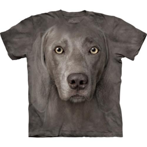 Tričko unisex The Mountain Weimaraner - šedé