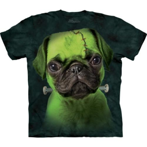 Tričko unisex The Mountain Franken Pug - zelené
