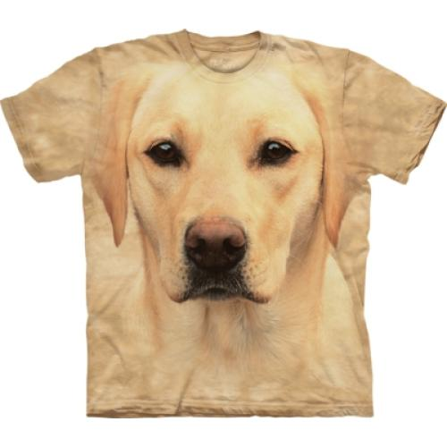 Tričko unisex The Mountain Yellow Lab Portrait - žlté