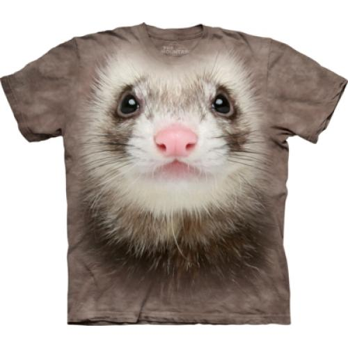 Tričko unisex The Mountain Ferret Face - hnědé