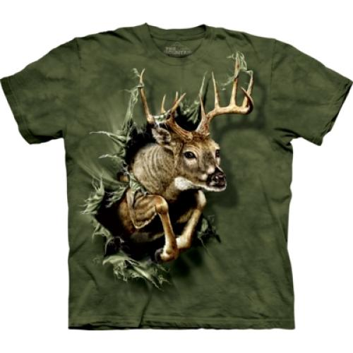 Tričko unisex The Mountain Breakthrough Deer - zelené
