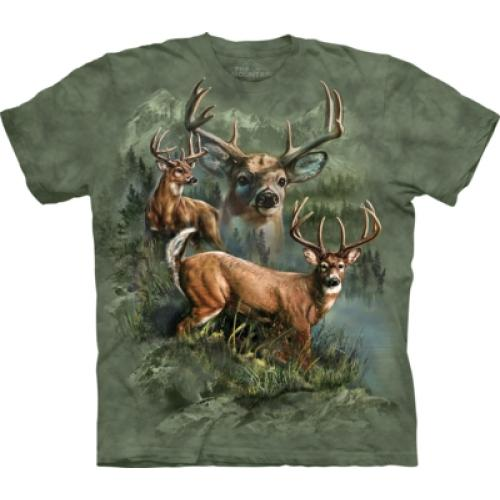 Tričko unisex The Mountain Deer Collage - zelené