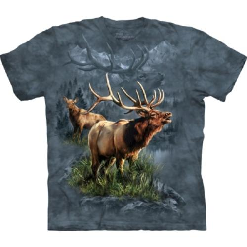 Tričko unisex The Mountain Elk Protector - modré