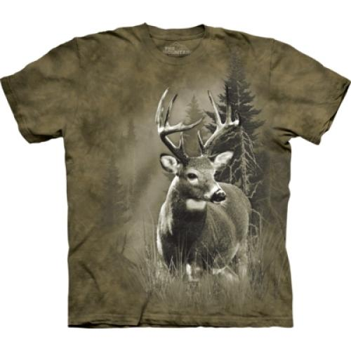 Tričko unisex The Mountain Lone Buck - hnědé