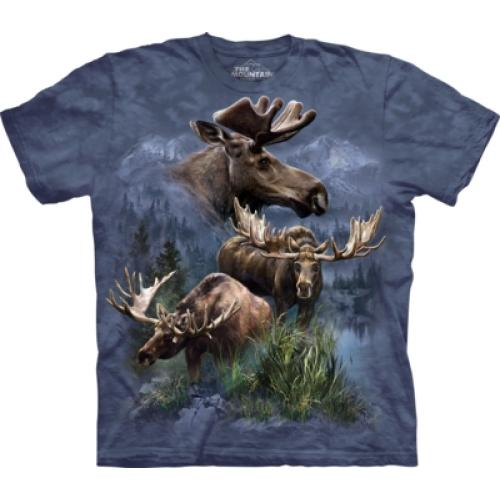 Tričko unisex The Mountain Moose Collage - modré