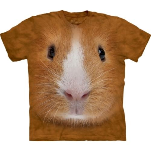 Tričko unisex The Mountain Guinea Pig Face - hnedé