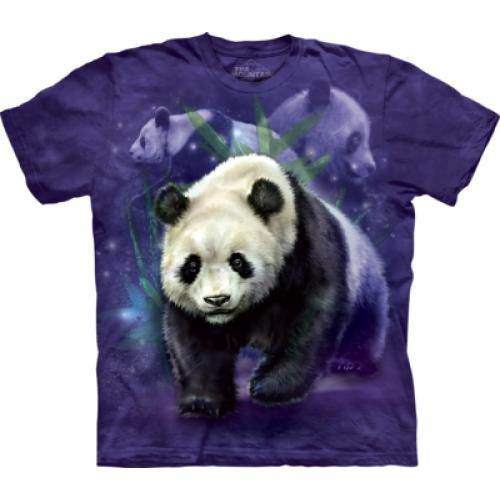 Tričko unisex The Mountain Panda Collage - fialové